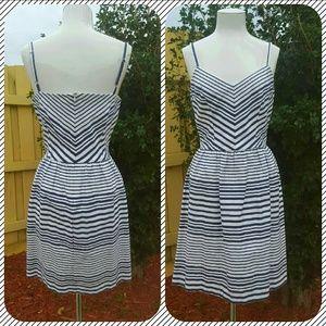 Bar III stripe dress white/blue size Large Bar3